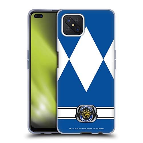 Head Case Designs Oficial Power Rangers Ranger Azul Disfraces Retro Carcasa de Gel de Silicona Compatible con OPPO Reno4 Z 5G