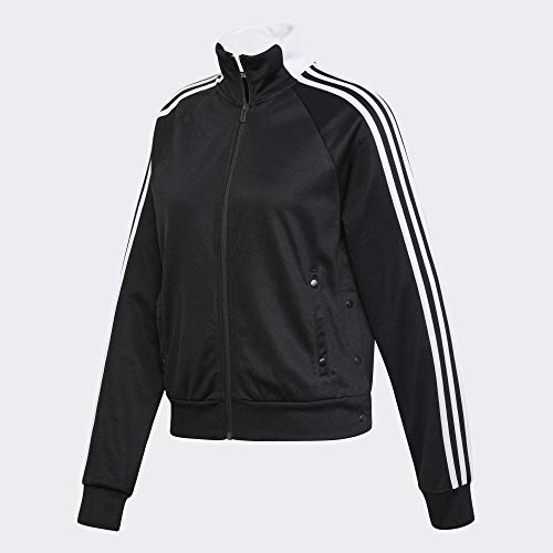 adidas Damen Trainingsjacke Id 3-Streifen Snap, Black, XS, DZ8659