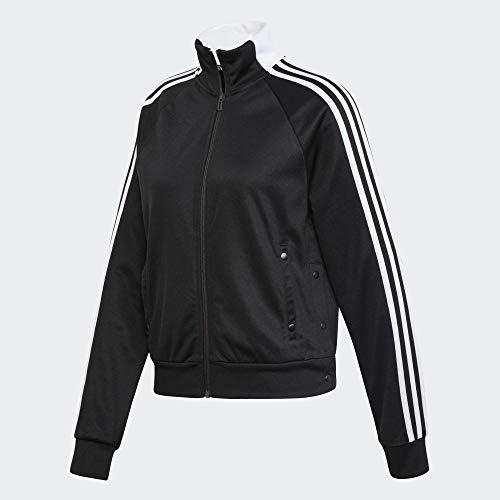 adidas Damen ID 3-Streifen Snap Trainingsjacke, Black, M