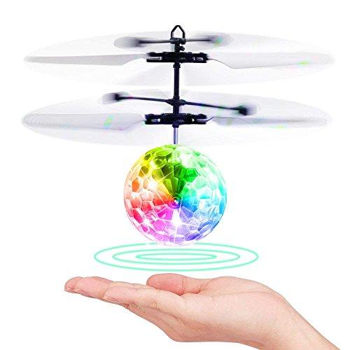 EpochAir Kinder RC Fliegender Ball Spielzeug Fliegendes Spiele Geschenke für Jungs Mädchen Infrarot-Induktion Drohne mit bunt leuchtendem LED-Licht und Fernbedienung