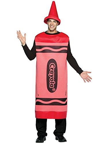 CRAYOLA Crayon Mens Fancy Dress Costume Red L/XL (disfraz)