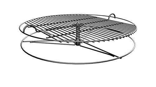 GrillUp - Rejilla de Parrilla para Barbacoa con Altura Ajustable. 100% Acero Inoxidable. Para Weber y Otras Parrillas de Carbón de 57cm (22