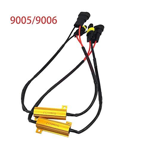 UkYukiko 9005 9006 - Arnés de cableado para luz antiniebla (LED, 12 V, 50 W)