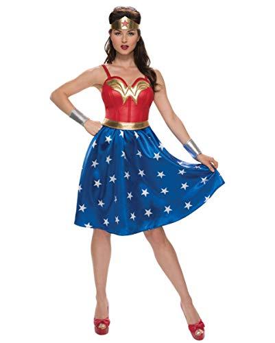 Horror-Shop Vestido De Disfraz De Mujer Maravilla 4pcs. L