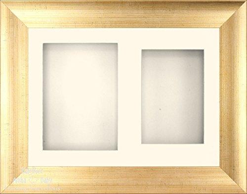 Anika-Baby 29,2 x 21,6 cm Doré antique Cadre 3d/2 trous Passe-partout crème