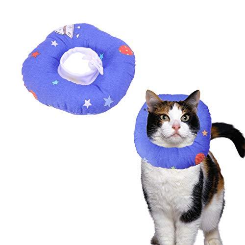 POPETPOP Cono para Perros Gato Mascotas Collar isabelino Evitar Mascotas picaduras de y arañazos en Lesiones hileras heridas y erupciones (M)