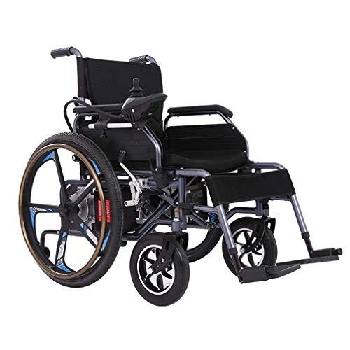 WXDP Silla de ruedas autopropulsada,Inteligente Pieghevole Batteria Al Litio Sedia A Rotelle Elettrica Vecchio Scooter Disabili Sedia A Rotelle