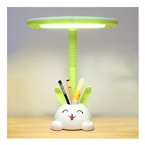 Lámpara de Mesita Lámpara de intensidad regulable escritorio de oficina linda de los niños de la lámpara de la lámpara de lectura Plug-in dormitorio lámpara de cabecera del interruptor de botón de tre