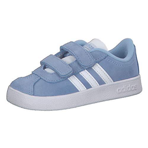 adidas Unisex Baby VL Court 2.0 CMF I Hausschuhe, Mehrfarbig (Azubri/Ftwbla/Gridos 000), 20 EU