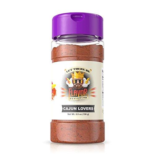 Cajun Flavored 5oz. FlavorGod Seasonings - Gluten Free, Low Sodium, Paleo, Vegan, No MSG (Single Seasoning)