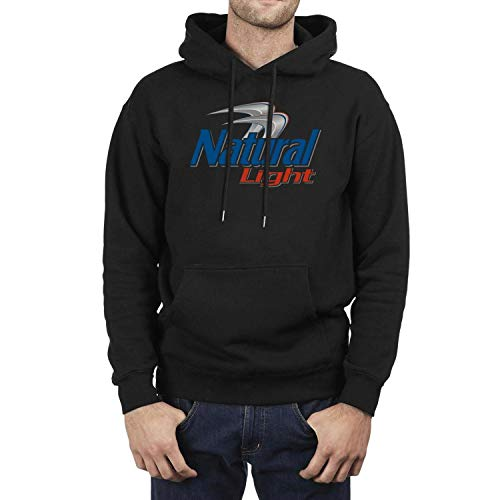 FUEWJFDIW Powerblend Fleece Hooded Sweatshirt for Men's Natural-Light-Logos- Sweaters