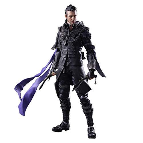 Siyushop Kingsglaive Final Fantasy XV Nyx Ulric Juega Arts Kai Figura De Acción - Equipada con Armas, Cascos Y Manos Reemplazables - Alta 26CM
