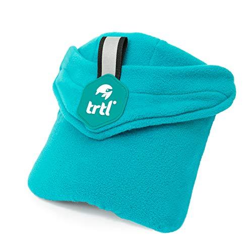 trtl Pillow - Scientifically Proven Super Soft Neck Support Travel Pillow - Machine Washable (Aqua Pop, Junior)