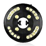 Iluminación LED para sombrilla de jardín, 24 luces LED de 400 lúmenes, luz cálida, corriente de batería o conector USB, 3 modos de iluminación