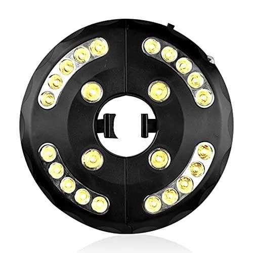 Sonnenschirm LED Beleuchtung, LED Beleuchtung Garten Sonnensegel Lichter, 24 LED Lichter 400 Lumen Warmes Licht, Batteriestrom oder USB-Stecker, 3 Modi Beleuchtung
