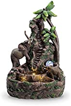 "OK Lighting 24"" H Elephant Table Fountain, Multicolor"