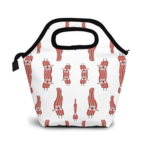 TUYUFBAGS Speck-Scheiben Fried Breakfast Food Lunch Tasche Isoliertasche Kühltasche Lunchtasche Thermische Lunch Tasche Mittagessen Tasche für Mädchen Kinder