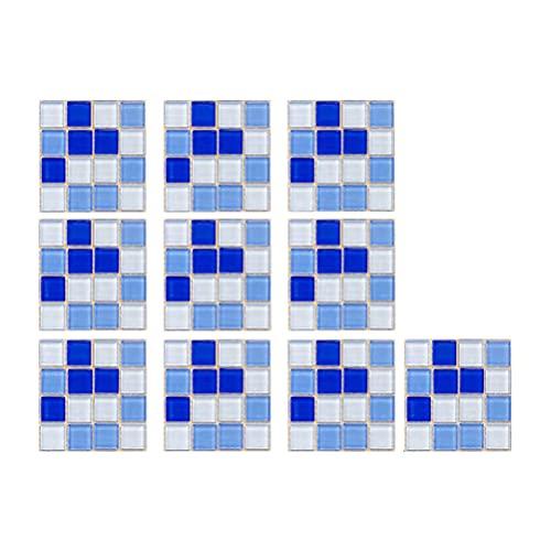 BASOYO 30 pegatinas 3D para azulejos de cocina y baño para transferencias de azulejos de 10 x 10 cm