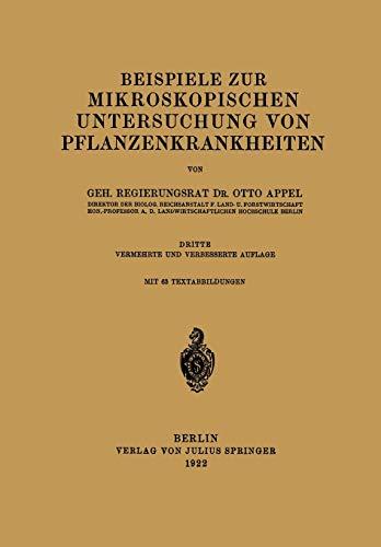 Beispiele zur Mikroskopischen Untersuchung von Pflanzenkrankheiten