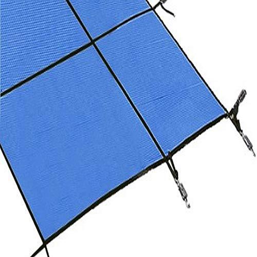 HWF Pool Cover Poolabdeckplane Groß Blaues Netz Winter Pool Sicherheitsabdeckung für Inground Swimming Pool, 1m / 2m / 3m / 4m / 5m / 6m / 7m / 8m / 10m, Installationszubehör Enthalten