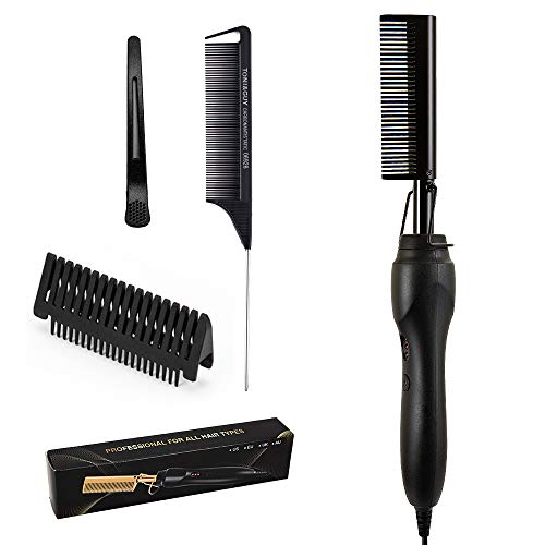 Electric Hot Comb Hair Straightener Electric Straightening Comb for African American Hair, Electric Hot Combs for African American Hair