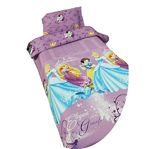 Disney Kinderbettwäsche Bettwäsche Mickey Minnie Cars Princess Spiderman Polyester 135x200 80x80 NEU, Motiv:Princess