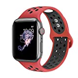 BMBEAR Sport Bands Compatible with Apple Watch 42mm 44mm Soft Silicone Strap Replacement