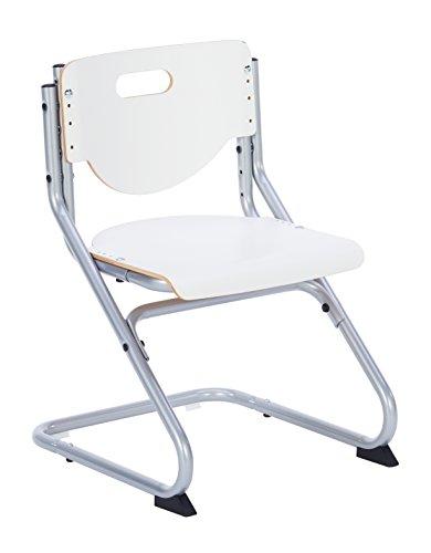 Kettler Chair Plus White Schreibtischstuhl Kinder – hochwertiger Kinderschreibtischstuhl MADE IN GERMANY – ergonomisch & höhenverstellbar – Freischwinger, der mitwächst – weiß & silber