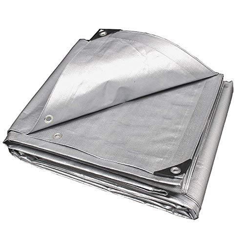 QIAOH Lona Impermeable Exterior 5X8m, Lona De Protección Home Garden, Lona De Plástico Impermeable, Funda Protectora, Lona Impermeable A Prueba De Lluvia Resistente Al Polvo