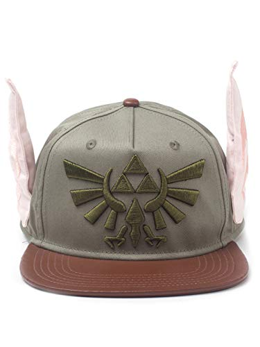 Nintendo Unisex Legend of Zelda Novelty Ears Snapback Baseball Cap, Multi-Colour (SB548076ZEL) Baseballkappe, Grün (Grün), One Size
