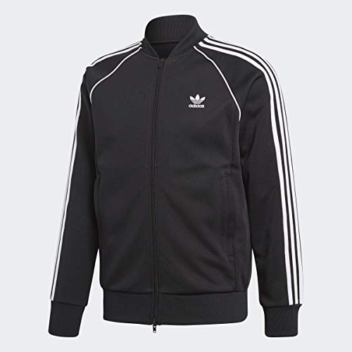 adidas Originals Men's Superstar Track Jacket, Black, XL