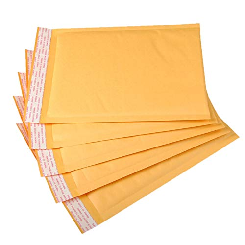 OfficeKit Kraft Bubble Mailers #0 6X10 Inches Shipping Padded Envelopes Self Seal Cushioned Mailing Envelope Bags 500 Pack