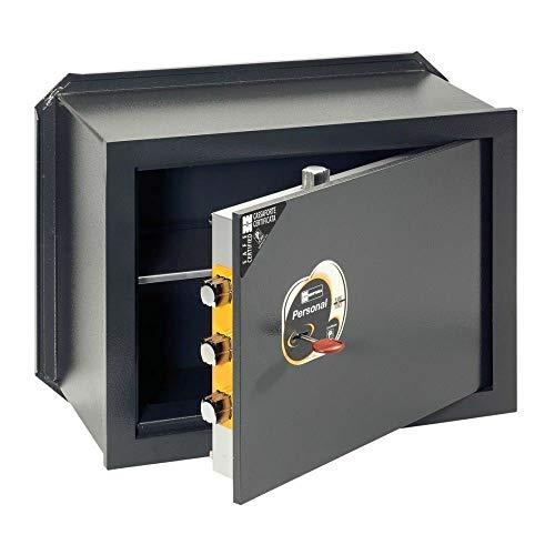 Cassaforte Personal, art 111115, modello a incasso, con chiave, h230 larg 350 prof 150