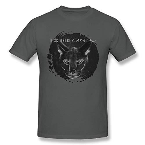 Disclosure Caracal Men T Shirt StyleCotton Short Sleeve Tee Black,Deep Heather,6XL