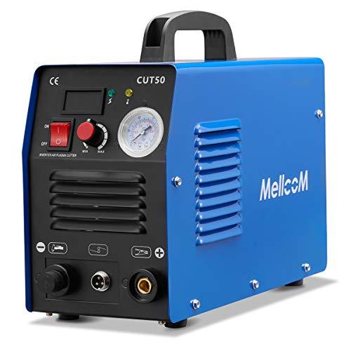 Mellcom CUT50 Welding Machine, 50 Amp Plasma Cutter 110/ 220V Dual Voltage 1/2 Inch Clean Cut Portable with LCD Display Cutting Machine