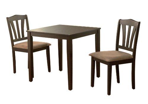 The Mezzanine Shoppe Metropolitan Mid Century Modern 3 Piece Dining Room Set Espresso