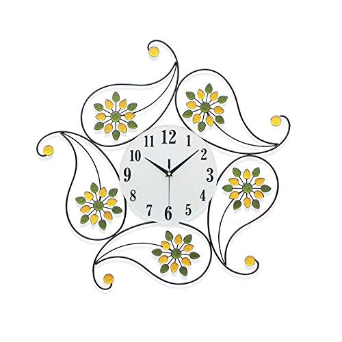 Wall Clock, Wall Clock Modern Iron Round Clock Watch Silent Living Room,Clocks Compatible for Kitchen Bedroom Office Lounge Decor 62CM 62CM