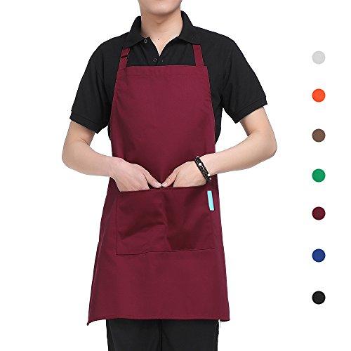 esonmus Schürze Kochschürze Küchenschürze Latzschürze in 5 verstellbarem Nackenband