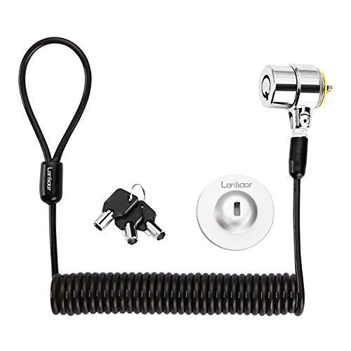 Loradar Security Hardware Cable Lock Kit ,Retractable Cable Lock Portable Keyed Laptop Lock 3 Keys 6.2Ft for Monitors, Laptops, MacBooks, Tablets, iPad,Mac Mini, (Keyed Different)
