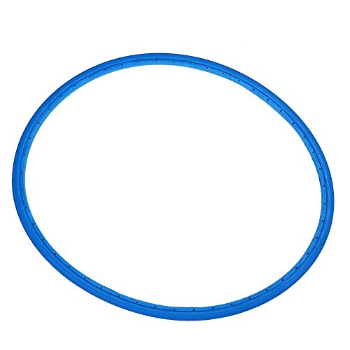 Dilwe Fahrrad Vollreifen, fahrradfrei aufblasbarer Airless Reifen schlauchloser Reifen(Blau)
