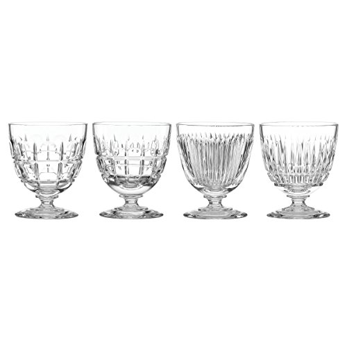 REED AND BARTON New Vintage Mixed Cuts 4pc Cocktail Glass Set, 3.80 LB, Clear -  REED & BARTON, 871751
