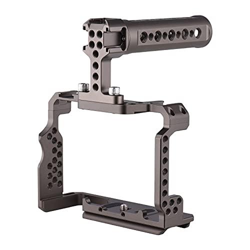 ZzheHou Kit De Jaula De Video para Cámara Kit De La Película De La Película De Aleación De Aluminio con La Plataforma De Video Top Manija De Reemplazo De Agarre (Color : Black, Size : One Size)