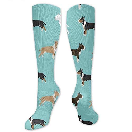 remmber me Hombres y mujeres Bull Terrier Abrigo Colores Novedad Calcetines deportivos Calcetines atléticos Medias de tubo largo Talla única Para todos los 50CM