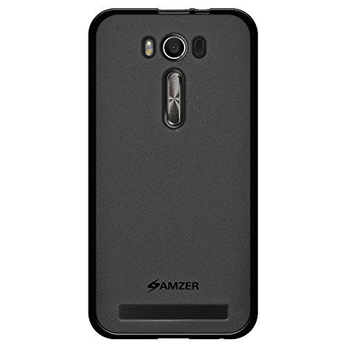 AMZER Pudding TPU Soft Gel Skin Case for Asus Zenfone 2 Laser ZE500KL (5.0 Inch), Asus Zenfone 2 Laser ZE500KG - Retail Packaging - Black