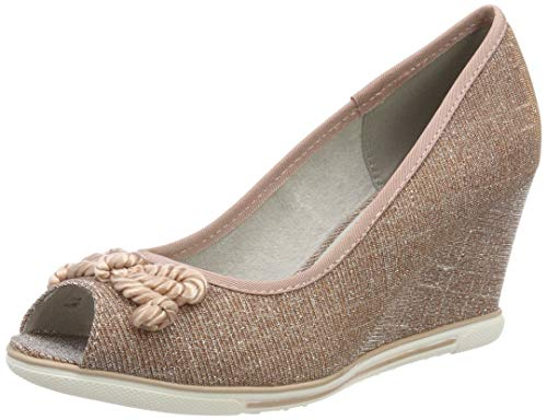 MARCO TOZZI Damen 2-2-29305-22 Peeptoe Pumps, Pink (Rose Metallic 592), 40 EU