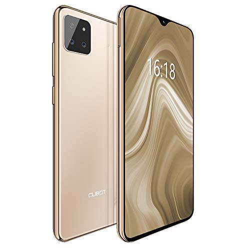 "CUBOT X20 4G Android 9.0 Teléfono Movil Libre Pantalla 6,3"" FHD+, AI Triple Cámara Trasera,Dual Sim,Face ID,Huella Dectilares 4GB RAM 64GB ROM, Octa-Core Batería 4000mAh (Oro)"