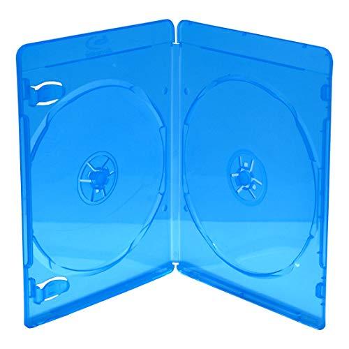 MediaRange BOX39-2-50 Blu-ray case 2dischi Blu, Trasparente custodia CD/DVD