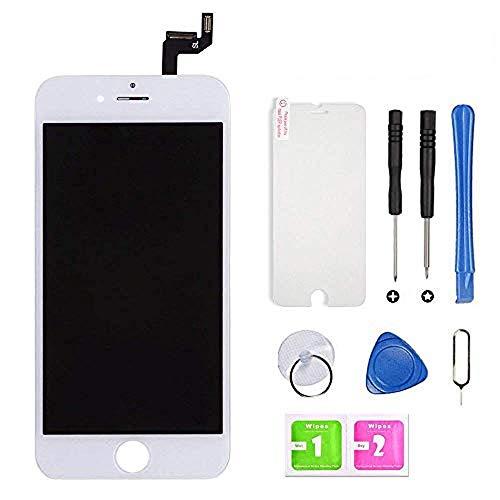 Hoonyer Display per iPhone 6S Schermo (4.7 Pollici) LCD Touch Screen Frame Bianco Vetro Schermo Kit Smontaggio Trasformazione Completo di Ricambio Utensili Inclusi