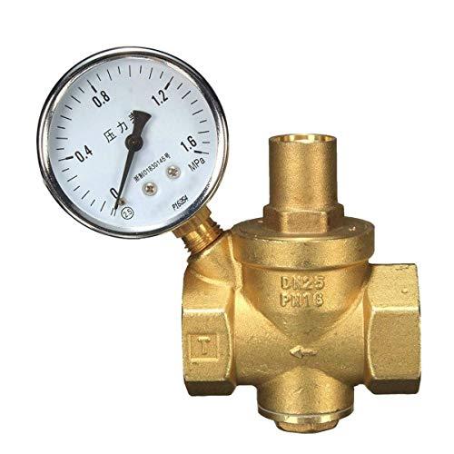 SHM-MM Elektrische Tauchpumpe DN25 Ventil + Manometer Manometer Wasserstrom Messing Wasserdruck for Schwimmbäder Reduzierung, überflutete Keller, große Teiche