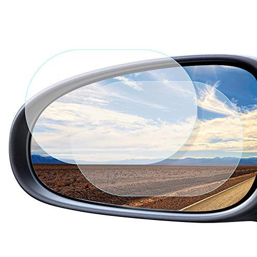 Excellentas Auto Rückspiegel Seitenspiegel Folie Spiegel wasserabweisend Regenschutz Blendschutz KFZ, Motorrad Universal 150 * 100 mm